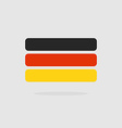 Germany flag stylized Flag German of geometrical vector image