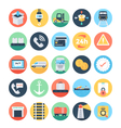 Global Logistics Colored Icons 3 vector image vector image
