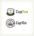Green tea symbols vector image