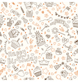 Hand drawn seamless pattern with Birthday elements vector image vector image