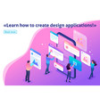 isometric process creating application design vector image vector image