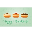 Jewish holiday of Hanukkah sufganiyot and vector image