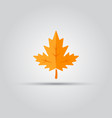 maple leaf isolated colored flat icon vector image