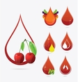 medic creative blood drops set vector image vector image