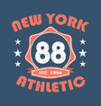 new york athletic vector image vector image