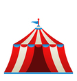 Open circus stripe tent isolated on white vector image vector image