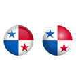 panama flag under 3d dome button and on glossy vector image vector image
