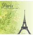 Paris Eifel Tower On Green Leaves Spring vector image vector image
