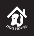 pet house business logo vector image vector image