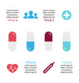 pills treatment infographic medical vector image vector image