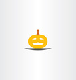 pumpkin head halloween logo icon vector image vector image