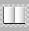 realistic notebook in mockup style open blank vector image vector image