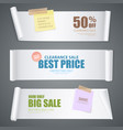 realistic scroll paper banners vector image vector image
