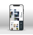 restaurant menu ui ux gui screen for mobile apps vector image vector image