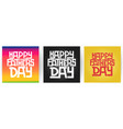 retro typographic card set for father day vector image