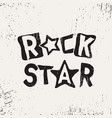 rock star grunge text vector image