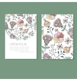 sample business card with flowers vector image vector image