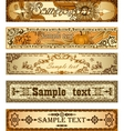 Set of country style banners vector image vector image