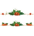 set of dividers with pumpkins vector image vector image
