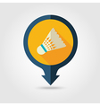 Shuttlecock badminton sport pin map icon Vacation vector image