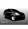 side black sports car vector image vector image