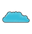 silhouette of colored pencils of cloud service vector image vector image