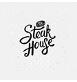 Simple Text Style for Steak House Concept vector image vector image