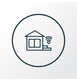 smart home icon line symbol premium quality vector image vector image