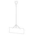 Snow shovel vector image vector image