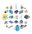 stock icons set isometric style vector image vector image