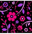 stylish black and pink pattern vector image vector image