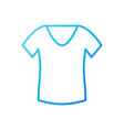 t-shirt for women blue icon or symbol vector image vector image