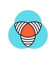 Venn diagram color icon primary diagram three