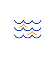 waves line icon sea flowing sign vector image
