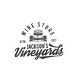 wine shop logo label organic winesvineyard vector image vector image