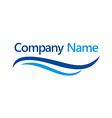 water swoosh company logo vector image