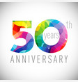 50 th anniversary facet years multicolored vector image vector image