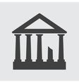 acropolis icon vector image vector image