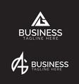 ag monogram logo set vector image