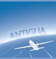 antigua flight destination vector image