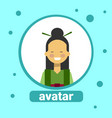 asian woman avatar icon chinese female in vector image vector image