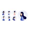 avatar profile picture icon set young men