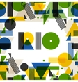 Background with Rio in abstract geometric style vector image
