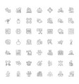 banking linear icons signs symbols line vector image vector image