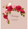 Beautiful vintage card with nightingale vector image vector image