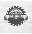 Carpenter design element in vintage style vector image
