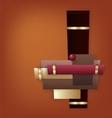 Chocolate Art Deco geometric background vector image vector image
