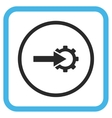 Cog Integration Icon In a Frame vector image vector image