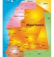 color map of Mauritania country vector image vector image