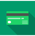 Colorful credit card icon in modern flat style vector image